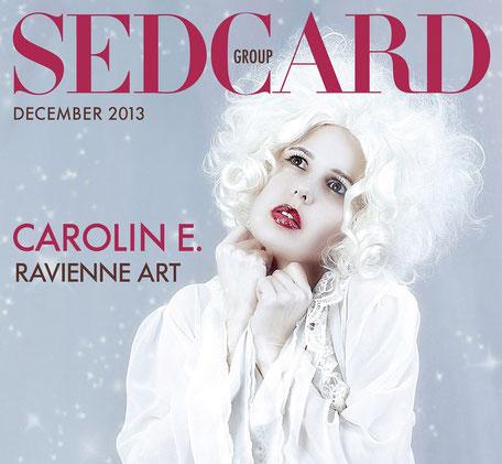 Model Ravienne Art auf einem Coverfoto der Facebook Sedcard Group