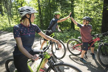 Mountainbiken mit der ganzen Familie