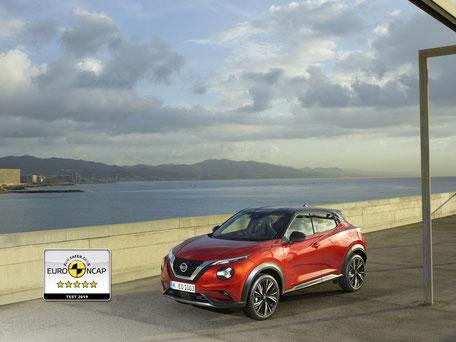 5 étoiles au test Euro NCAP pour le Nissan JUKE 2019