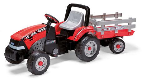 maxi diesel tractor mit anhänger tretfahrzeug spielfahrzeug