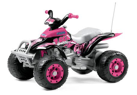 corral t-rex pink quad elektrofahrzeug spielfahrzeug