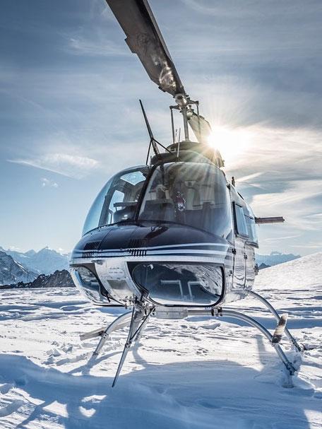 Elite Flights, Bell 206 Jet Ranger, Firmenausflug, Gletscherlandung Petersgrat