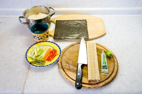 Veganes Sushi Anleitung