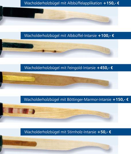 Wacholderholzbügel Varianten