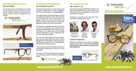 Flyer Wacholder-Vollholzbrillen