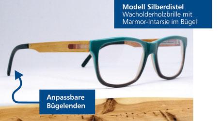 Wacholder-Brille Modell Silberdistel