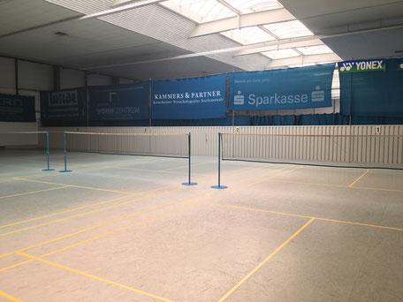 4 Feld Badmintonplätze