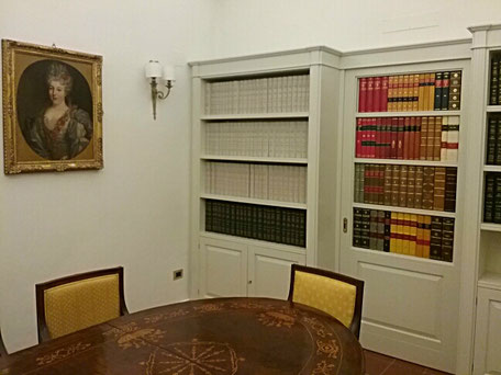 Faux book notary library