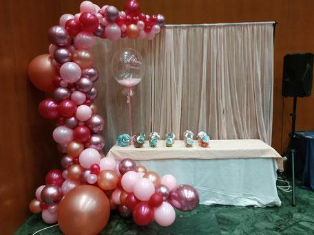 Decoración globos, letras de helio