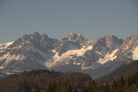 Landschaft, Berge mit Schnee