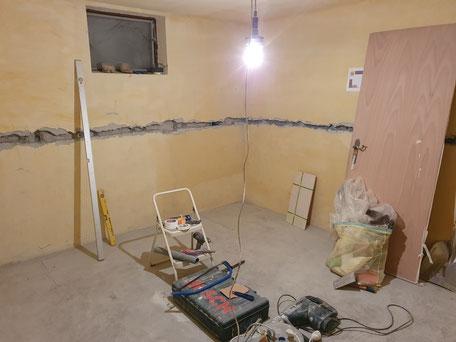 Baustelle, neuer Schleuderraum