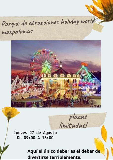 Excursión al Parque de atracciones Holidayworld Maspalomas - Adissur