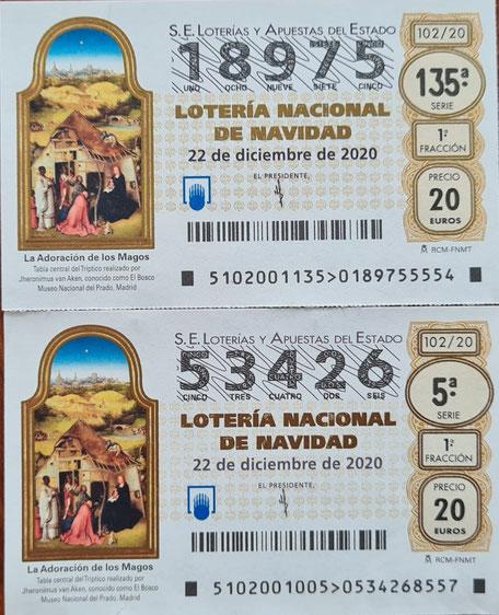 Lotería de navidad 2020 - Asociación Adissur