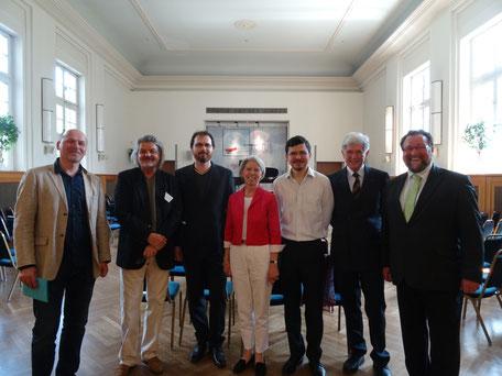 v.l.n.r.: Prof. Dr. Christoph Flamm, Cornelius Gerhardt, Wendelin Bitzan, Gabriele Weber, Vasily Gvozdetsky, Frank Asbeck, Dr. Simon Moser