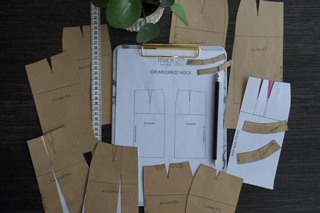 onlinekurs-schnittkonstruktion-grundschnitt-rock-naehen-bei-olga-naehschule-schnittmuster-erstellen