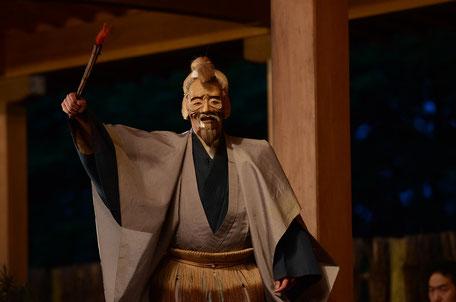 三光尉1 武田神社薪能第9回「鵜飼」シテ 佐久間二郎師