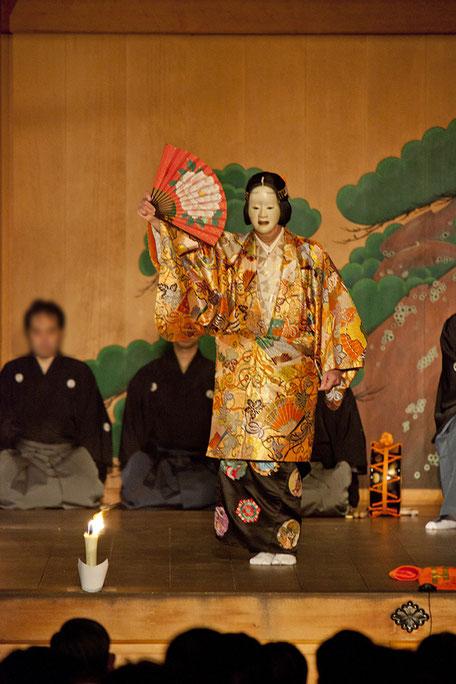 泥眼 武田神社薪能第7回「葵上」シテ 佐久間二郎師