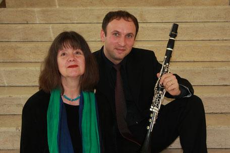 Duo Neon: Zoltán Kovács, Klarinette und Eva Schieferstein, Klavier