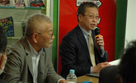 里見喜久夫さん、小林誠さん