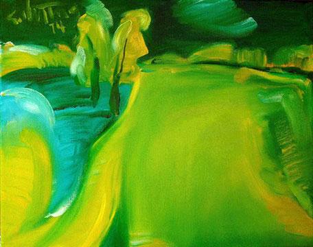 """Überflutete Landschaft"", 2014, Öl/Leinwand. 40 x 50 cm"