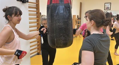 Fitness-Boxing Gruppe