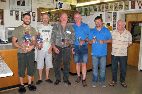 vl. Hannes Riedmann, Albert Müller, Josef Ledinek, Gotthard Ströhle, Harald Huber und Oschm. Josef Kessler