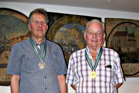 Unsere beiden erfolgreichen Teilnehmer: Hans Moschner (links), Josef Kessler (rechts)