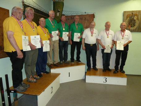 Siegerehrung LG v.l.: 2. Niederösterreich, 1.  Steiermark, 3. Vorarlberg
