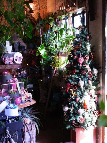 クリスマスツリー。今季おすすめオーナメントはウッドトナカイさんとモロッコオーナメント