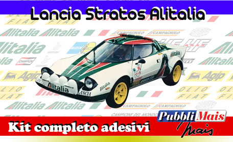 lancia stratos alitalia kit sticker adhesive decal