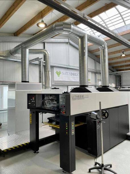 Abluftanlage für SATZDRUCK-Offsetdruckmaschine von Menken & Drees