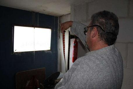 La salle de projection est toujours en place. Photo M.M.