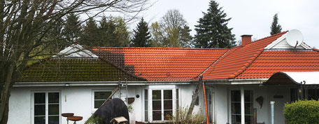 Dach während der Bearbeitung