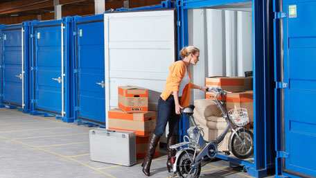 Blaue Boxen Self Storage - Lagerraum mieten zu TOP Preisen