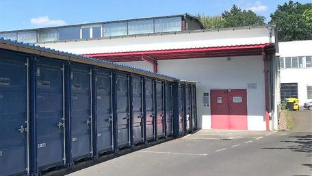 Blaue Boxen Self Storage Bonn-Beuel - Günstigen Lagerraum mieten
