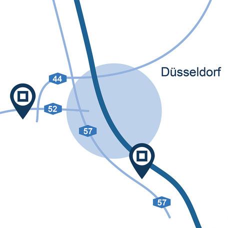Blaue Boxen Self Storage Düsseldorf- Günstigen Lagerraum mieten