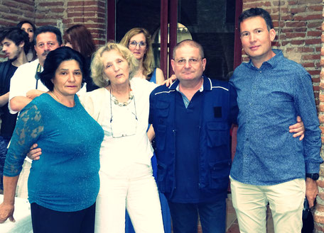 Le président du comité français Stéphane Archambaut entouré de ses homologues italiens Lorenzo Cannella et Roberta Falasca avec la vice-présidente, Jacqueline Lortet