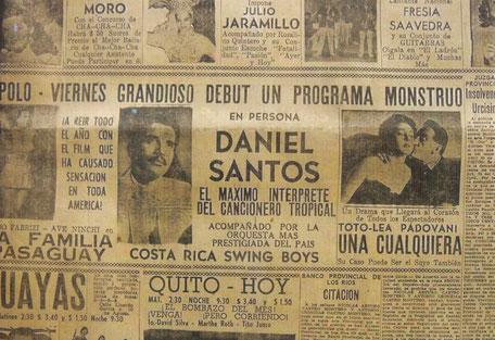 Máximo intreprete del cancionero tropical - 1956.