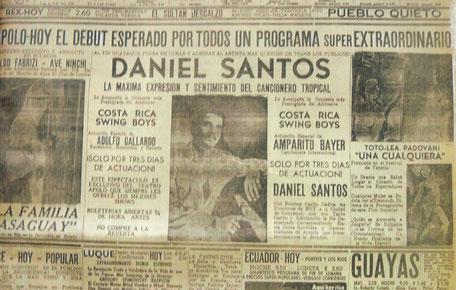 Promoción con la Costa Rica Swing Boys - 1956.