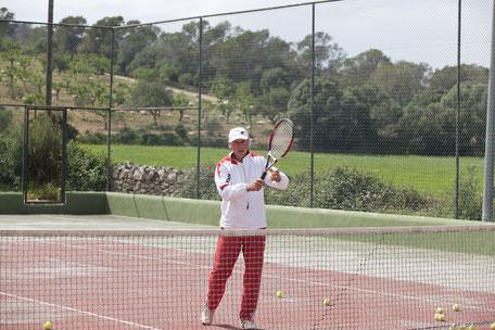 Tennis with Werner Schütz von Langsdorff in Majorca