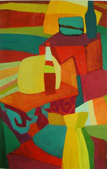 Композиция, натюрморт , декоративная, современная,живопись, гуашь, темпера, Циркина, Богачева, Мария, Tsirkina, Bogacheva,