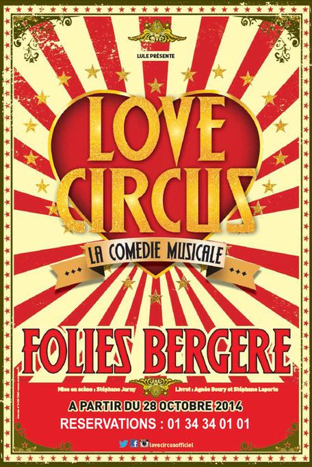 Love Circus Cabaret Folies Bergeres PARIS 2014