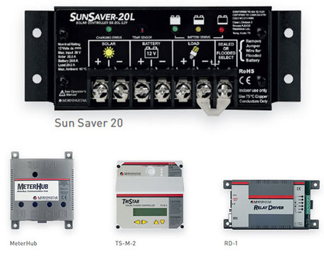 Solar energy SOLARA Morningstar PWM-meter