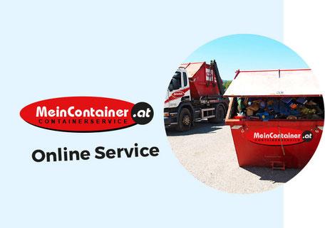 Abfallcontainer mit LKW