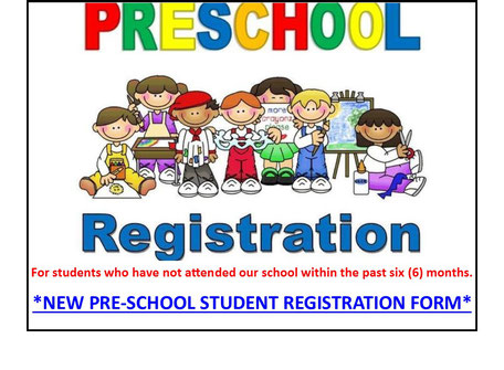 NEW PRE-SCHOOLERS (NEW STUDENTS) REGISTER HERE