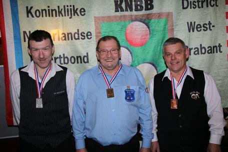 3e Peter van Dongen, 2e Johan Bosters, 1e Frans Vrolijk