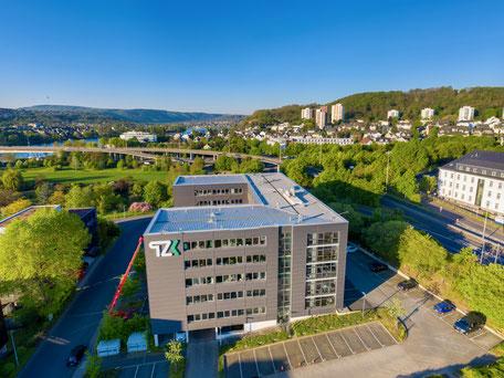 Das TZK von oben. Drohnenbild made by Mahlow Media
