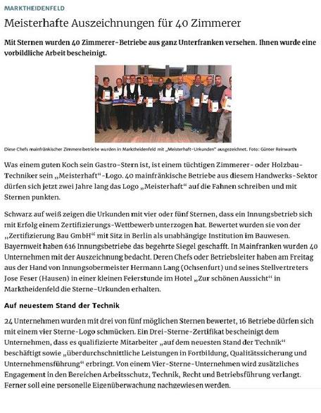 Presseartikel SL Holzbau GbR