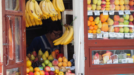 ウラジオストクのフルーツ店