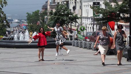 フォーキナ通りの噴水広場